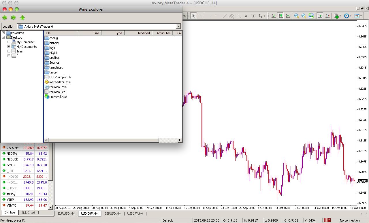Postup nahrání AOS, indikátorů a skriptů do MT4 pro Mac a